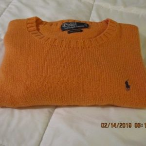 Polo By Ralph Lauren Muted Orange Sweater